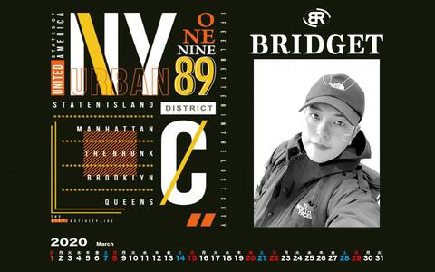 カレンダー 2020年3月 1920×1200