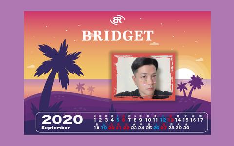 カレンダー 2020年9月 1920×1200