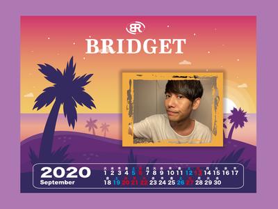 カレンダー 2020年9月 1600×1200