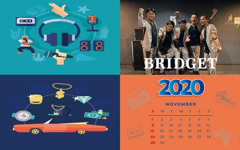 カレンダー 2020年11月 1920×1200