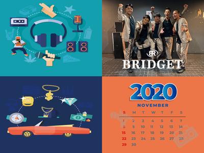 カレンダー 2020年11月 1600×1200