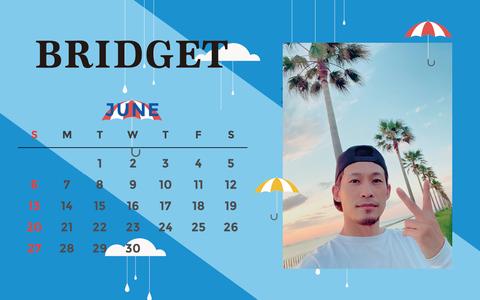 カレンダー 2021年6月 1920×1200