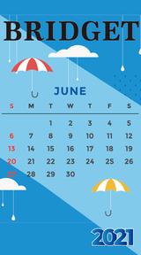 カレンダー 2021年6月 SP