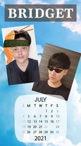 カレンダー 2021年7月 SP