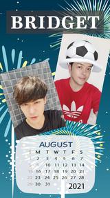 カレンダー 2021年8月 SP