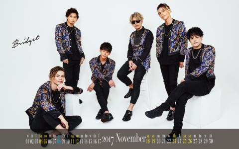 カレンダー 2017年11月 1600×1200