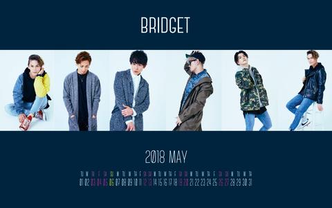 カレンダー 2018年5月 1920×1200