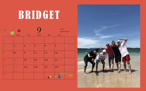 カレンダー 2018年9月 1920×1200