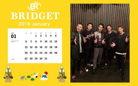 カレンダー 2019年1月 1920×1200