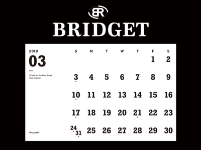カレンダー 2019年3月 1600×1200